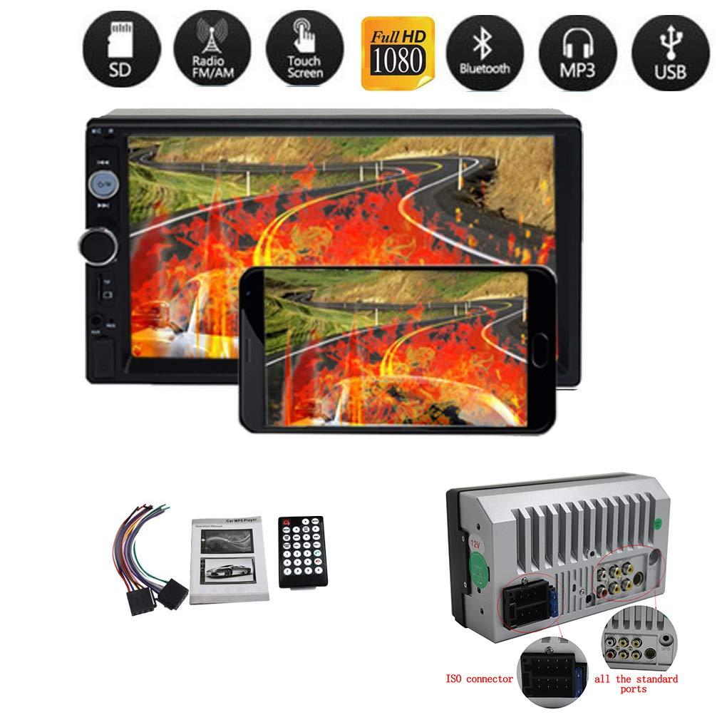 Firiodr 7'' Car Bluetooth Handfree Kit Car MP3 MP5 Audio Receiver Player FM USB Car Radio Support U Disk/TF Card Music Player