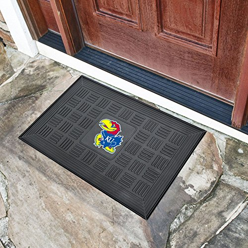 FANMATS NCAA University of Kansas Jayhawks Vinyl Door Mat
