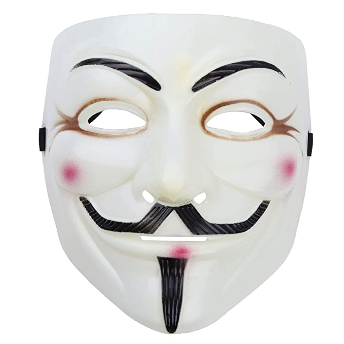 Iiniim Unisex V Maske Halloween Fasching Karneval Kostum Anonymus