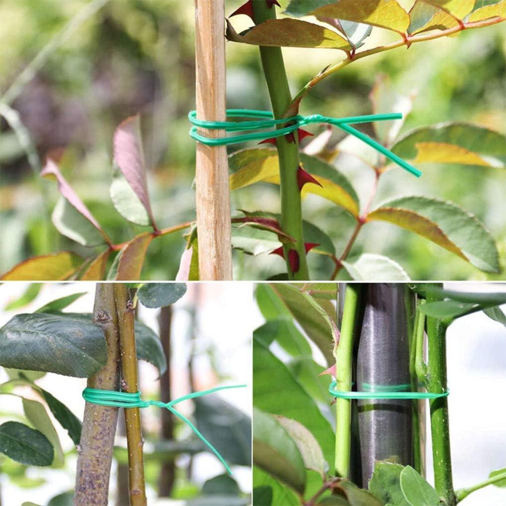 YOSIYO Giro Planta Corbata Verde Recubierto de Alambre de Cable de jardiner/ía Home Office Reutilizable Cable artesan/ía Accesorios 20m