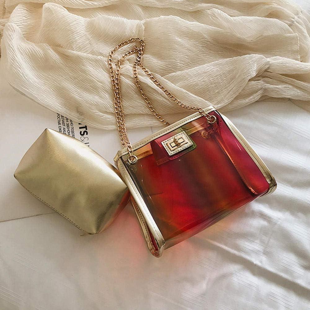 LANDONA 2019 Summer Fashion New Handtasche Hohe Qualität PVC Transparente Frauen Tasche Holographic Square Handytasche Kette Umhängetasche # K20 @ Blue_United_States A1372
