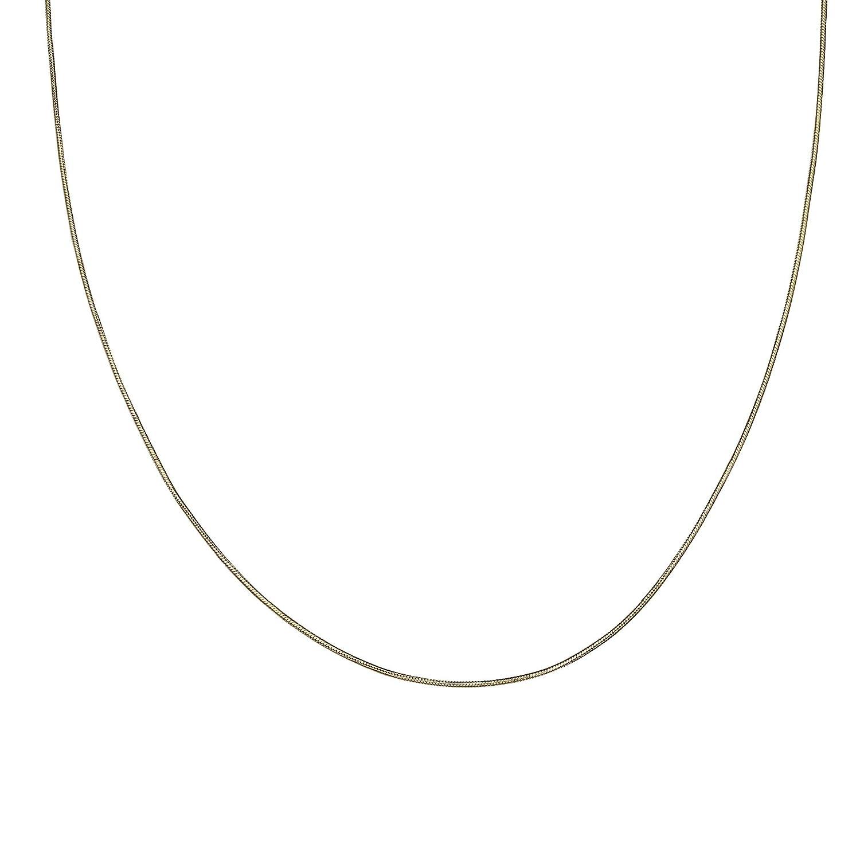 MILLA 925ゴールドメッキ スターリングシルバー ラウンドスネークチェーンネックレス 18.0 インチ  B07CL8Z7BP