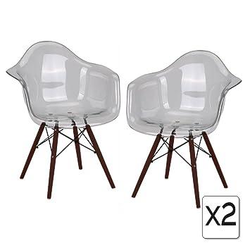 Fauteuil Pieds Vernis Gris Eiffel Mobistyl Inspiration Noyer Tg Design En Retro Dawd 2 Transparent X Promo Bois Assise MGSqzULVp