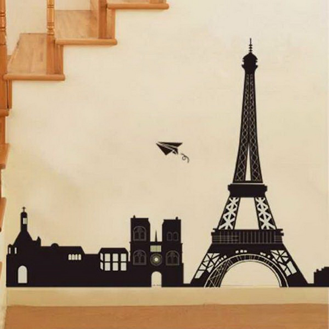 Amazon.com: Large I Love Paris Eiffel Tower City Silhouette Wall Stickers  DIY Mural Art Decal Self Adhesive Removable PVC Wallpaper Decor,Black,23.6  ... Part 45