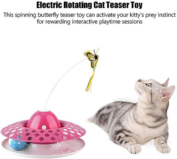 HEEPDD 3-en-1 Electric Cat Toy Teaser Pet Interactivo Rotativo ...