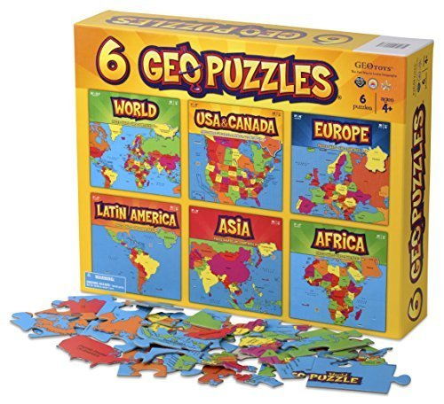 Geotoys 6 GeoPuzzles One Box