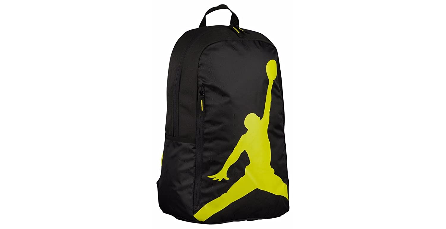 5c9a20c7a24b Amazon.com  Nike AIR JORDAN Backpack ISO Pack (Black Silver)  Clothing