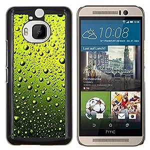 """Be-Star Único Patrón Plástico Duro Fundas Cover Cubre Hard Case Cover Para HTC One M9+ / M9 Plus (Not M9) ( Verde Agua Gotas de cerveza"""" )"""