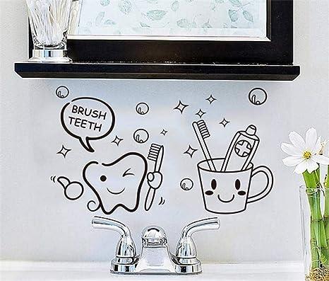73 * 42 pegatinas de pared cepillo de dientes cepillo de ...