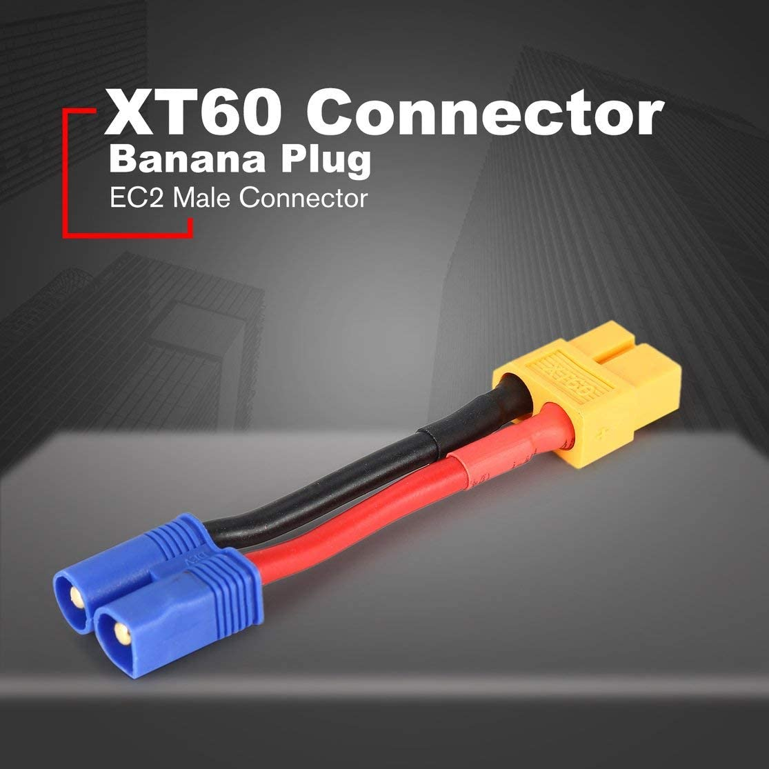 Female XT60 Plug to Male EC3 Connector Wire Adapter Cable ...