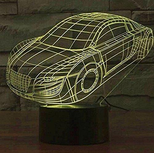 3 opinioni per Ahat Illusione Ottica 3D Deco lampada LED Desk luce 7 di notte che Cambiano