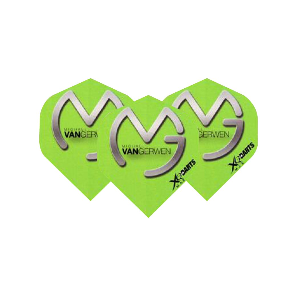 Michael Van Gerwen, colore: verde con Logo alette Per freccette, Extra spesso, 3 set/confezione, 9 Dart Flights & in totale), motivo: Dragone Rosso del Checkout Red Dragon Darts