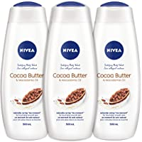 Nivea Cocoa Butter & Macadamia Oil Body Wash, (3x500ml), Feel Pampered With The Cocoa Butter Moisturizer and Delectable…