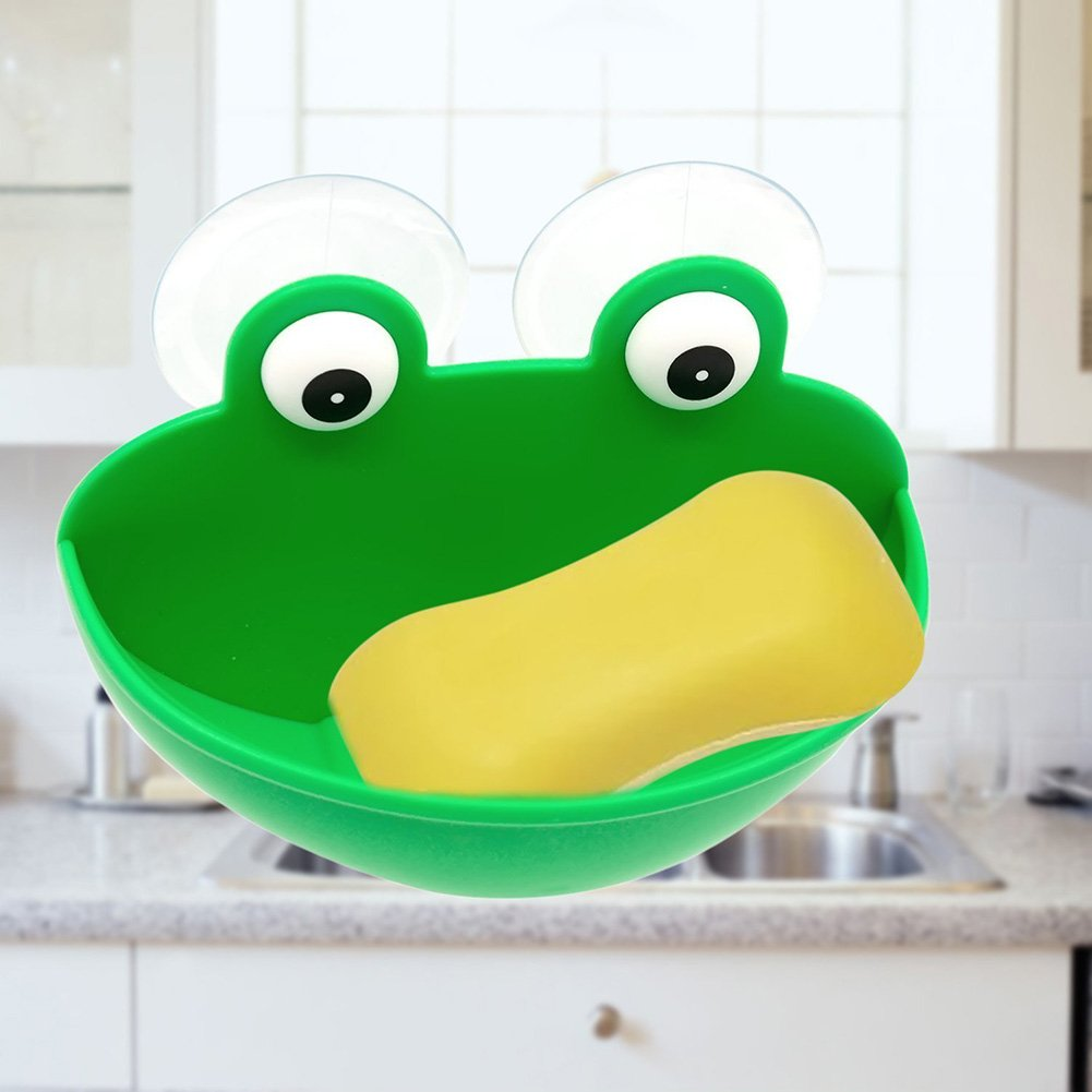 Amazon.com: Kxtffeect 1Pce Cut Frog styling Soap Dish Holder ...
