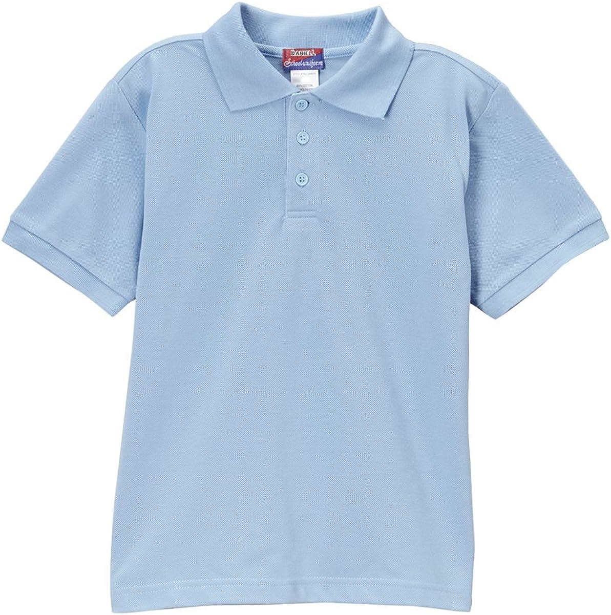 iGirldress Boys School Uniform Pique Polo Shirt Short Sleeve UNBSU01