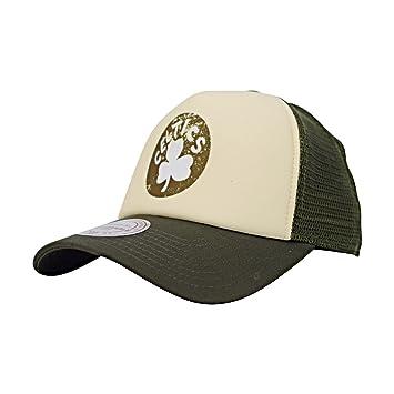 Mitchell   Ness Boston Celtics Distressed Print Trucker Adjustable NBA Cap   Amazon.co.uk  Sports   Outdoors 2aeda4e7f0f
