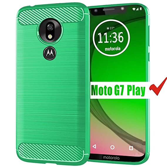 the latest aff68 a4f29 Moto G7 Play Case, HNHYGETE Soft Slim Shockproof Anti-Fingerprint Full  Protective Phone Cases for Motorola Moto G7 Play (Green)