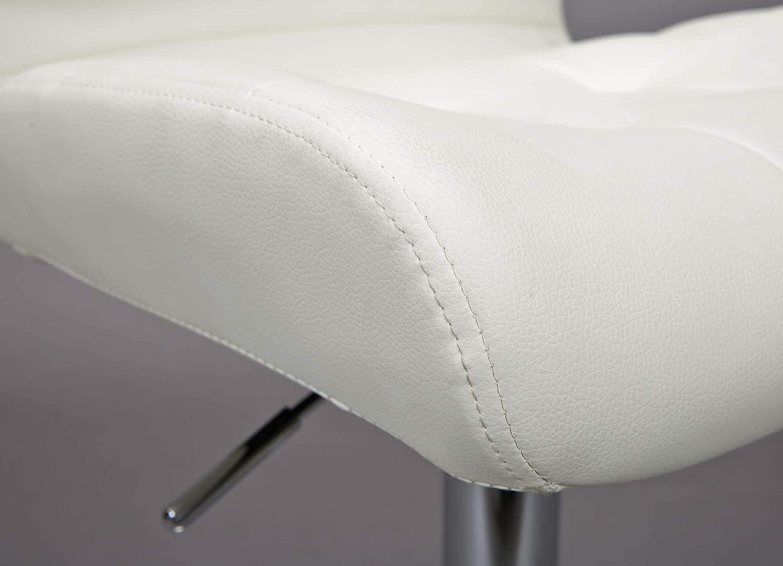 Inter Link Bar-Stuhl 2er Set Schwarz//Chrom 45 x 53 x 109 cm Metall Polyurethan
