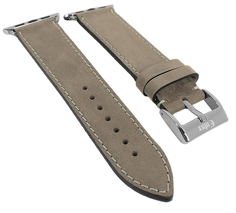 Minott | Uhrenarmband passend zu Apple Watch 38mm - Leder 29946 - Farbe:beige