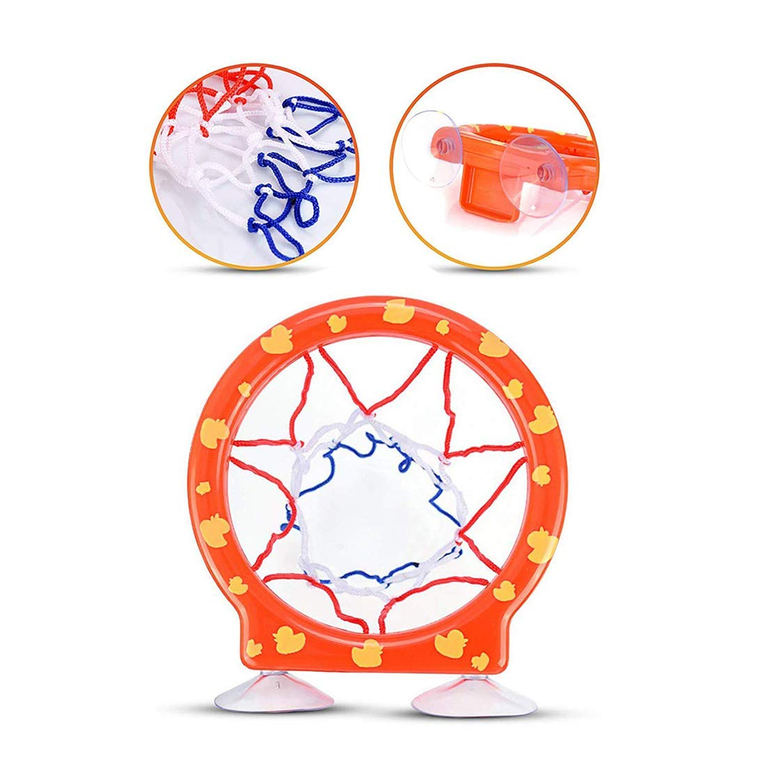 Max Fun Basketball Hoop /& Balls Playset Bath Toys for Kids 3 Balls Included Siauction Suctions Cups Install