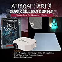 Atmosfearfx Bone Chillers Video Projector Kit with Atmosfearfx Bone Ciller DVD And Hologram Screen To Put Atmosfearfx Skeletons In Your Window, Yard or Anywhere! Projector is 1200 lumens and 640 x 480