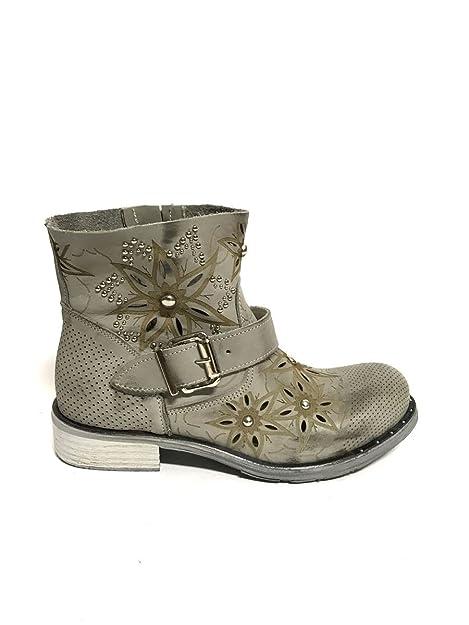 Estivi 36 Cuoio Stivali in MainApps Traforati con ZETA Pelle Italy Tacco Cuoio Made scarpe 6gPwqa70