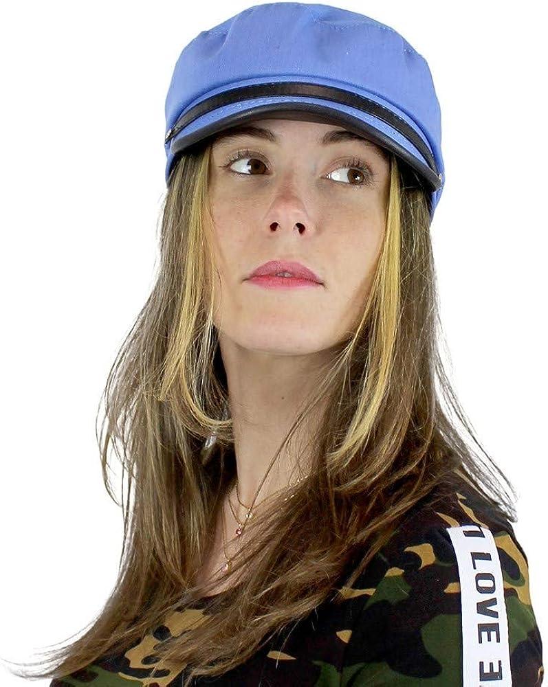 Women/'s Newsboy Cap PU Brim Baker Boy Hat One Size
