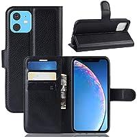 """Capa Capinha Carteira 360 Para Apple Iphone 11 Normal Tela De 6.1"""" Polegadas Case Couro Flip Wallet - Danet (Preta)"""