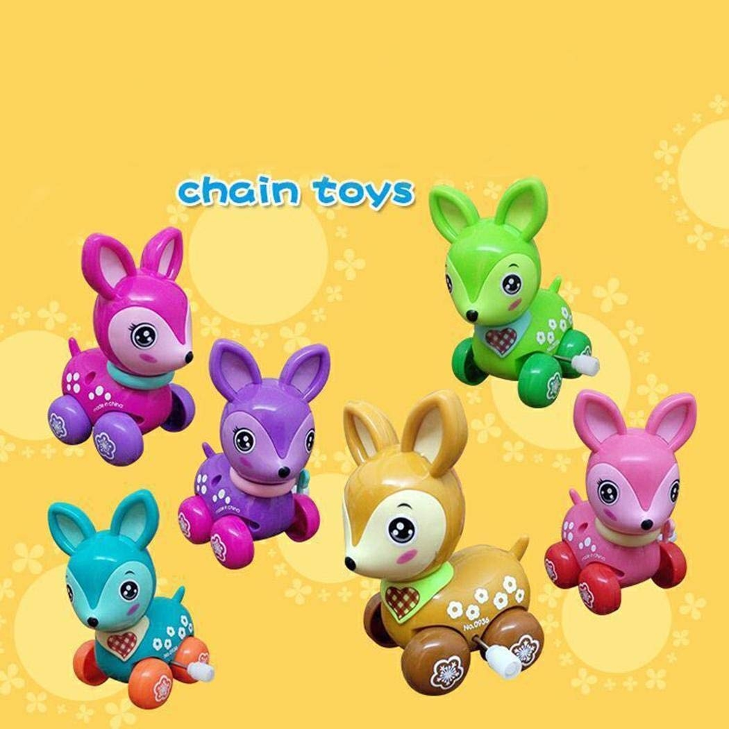 Kizaen 4Pcs Assorted Wind-up Toys Animals for Kids Party Favors Children's Birthdays Gifts by Kizaen (Image #2)