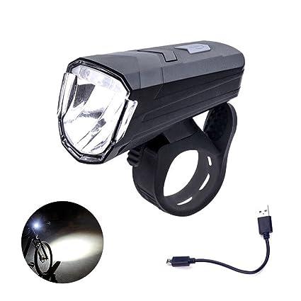 Mercery Juego de luces LED para bicicletas Lámpara recargable USB frontal para bicicleta Lámpara y faro ...
