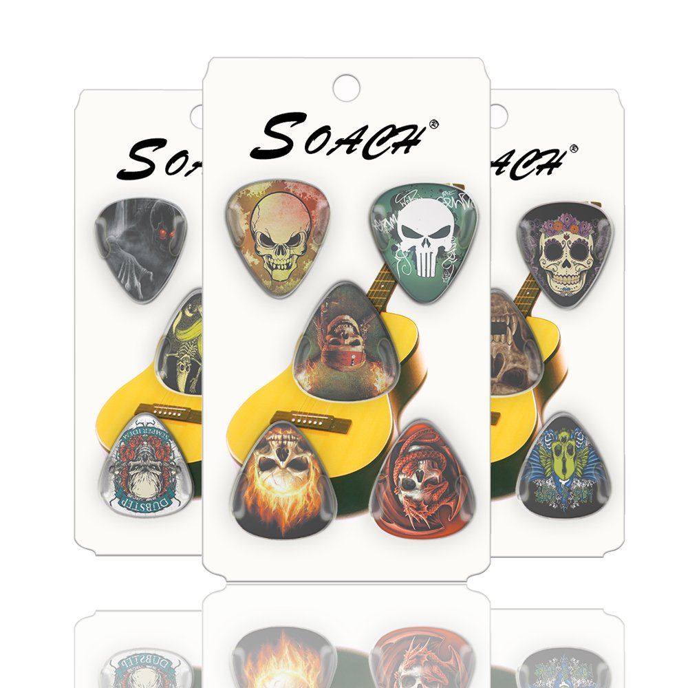 Amazon.com: SOACH guitar picks musical instruments thickness 0.71mm plectrum two sides colors 10-pack: Musical Instruments