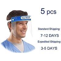 protecci/ón de visera contra salpicaduras y salpicaduras tiempo: 3 /– 9 d/ías 10 unidades protectores faciales pl/ástico antisaliva con pel/ícula protectora transparente
