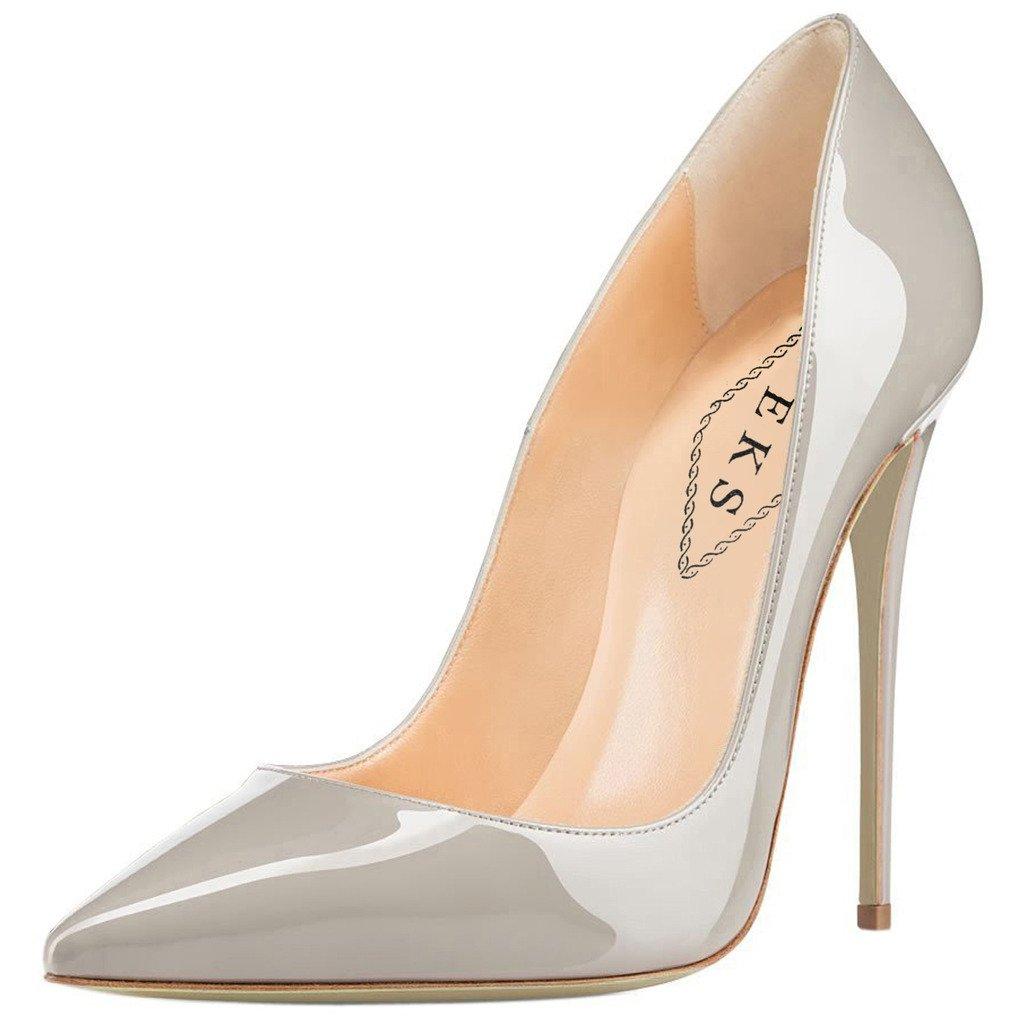 EKS - Zapatos de Tacón Mujer 42 EU Gris - gris