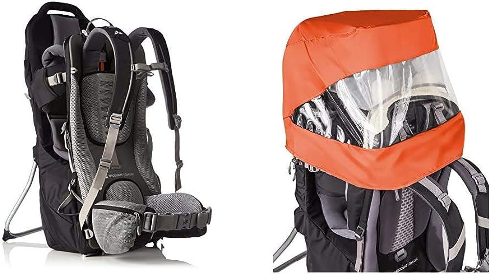 VAUDE Kindertragen Shuttle Base 119032270 orange one size One Size black 121390100 /& Kinder Zubehoer Sun-Raincover-Combination Shuttle