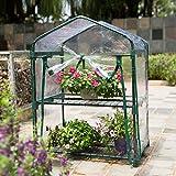 Maximumstore Mini 2-Tier Portable Walk In Greenhouse For Indoor/Outdoor Flower Garden PVC A+