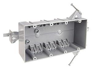 Electrical Box, 4 Gang, 55 cu. in., PVC