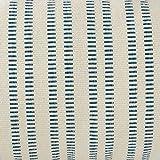 "Stone & Beam French Laundry Stripe Pillow, 12"" x 24"", Ivory, Turquoise"