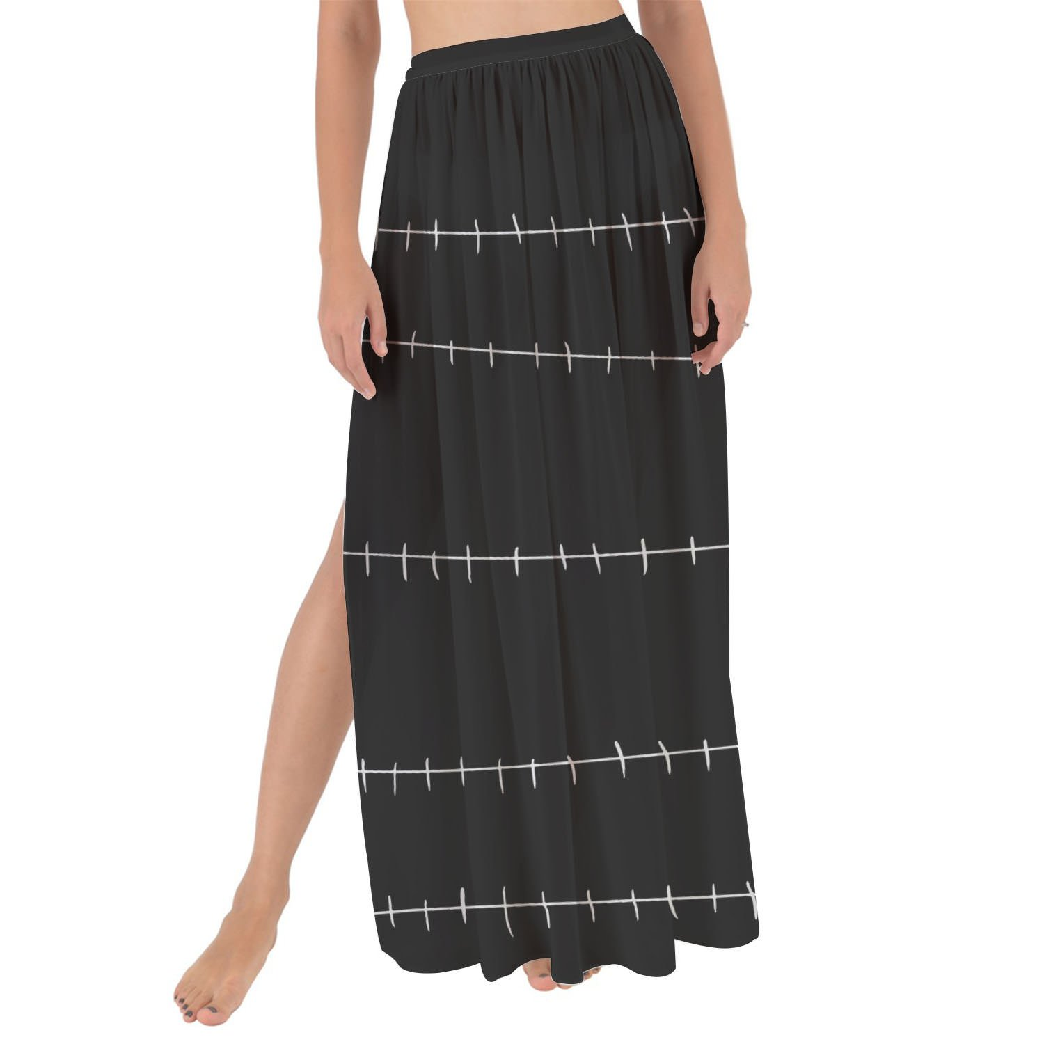 Queen of Cases Stitches Jack Skellington Inspired Maxi Sarong Skirt