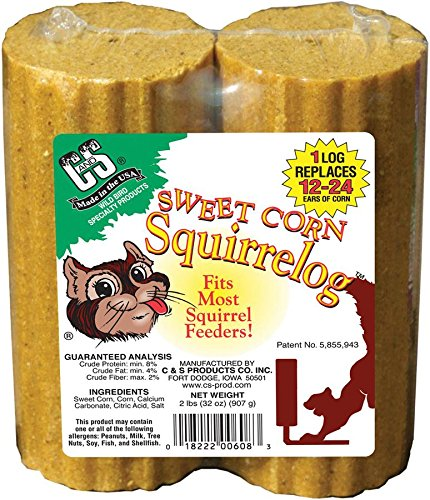 C & S Sweet Corn Squirrelog Refill Pack, 32-Ounce, (Kaytee Squirrel)