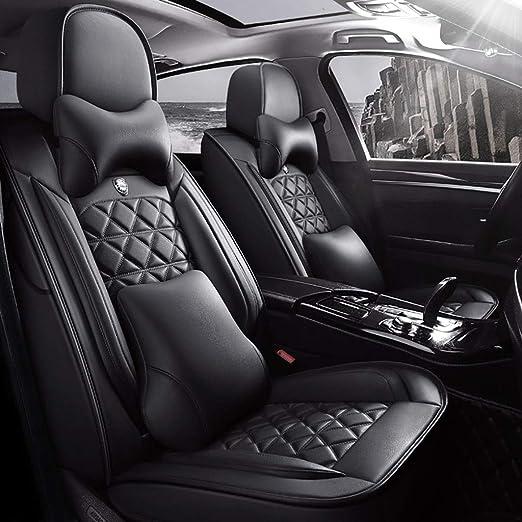 Universal protector asientos funda del asiento asiento del coche referencia ya referencia piel sintética negro