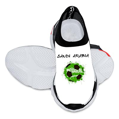 2018 World Cup Saudi Arabia Football Team 3D Printing Customized Fashion Low Flyknit Outdoor Comfortable Sports Football Casual Cartoon Kids Shoes White