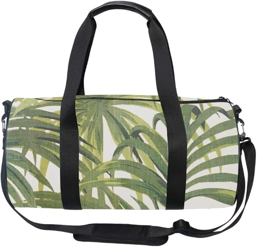 Several Leaves Duffel Style Carry On Sports Travel Bag with Shoulder Strap Zippered Compartments