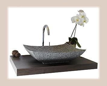 Waschbecken Aus Naturstein Granit Model Lima Weiss Gesprenkelt