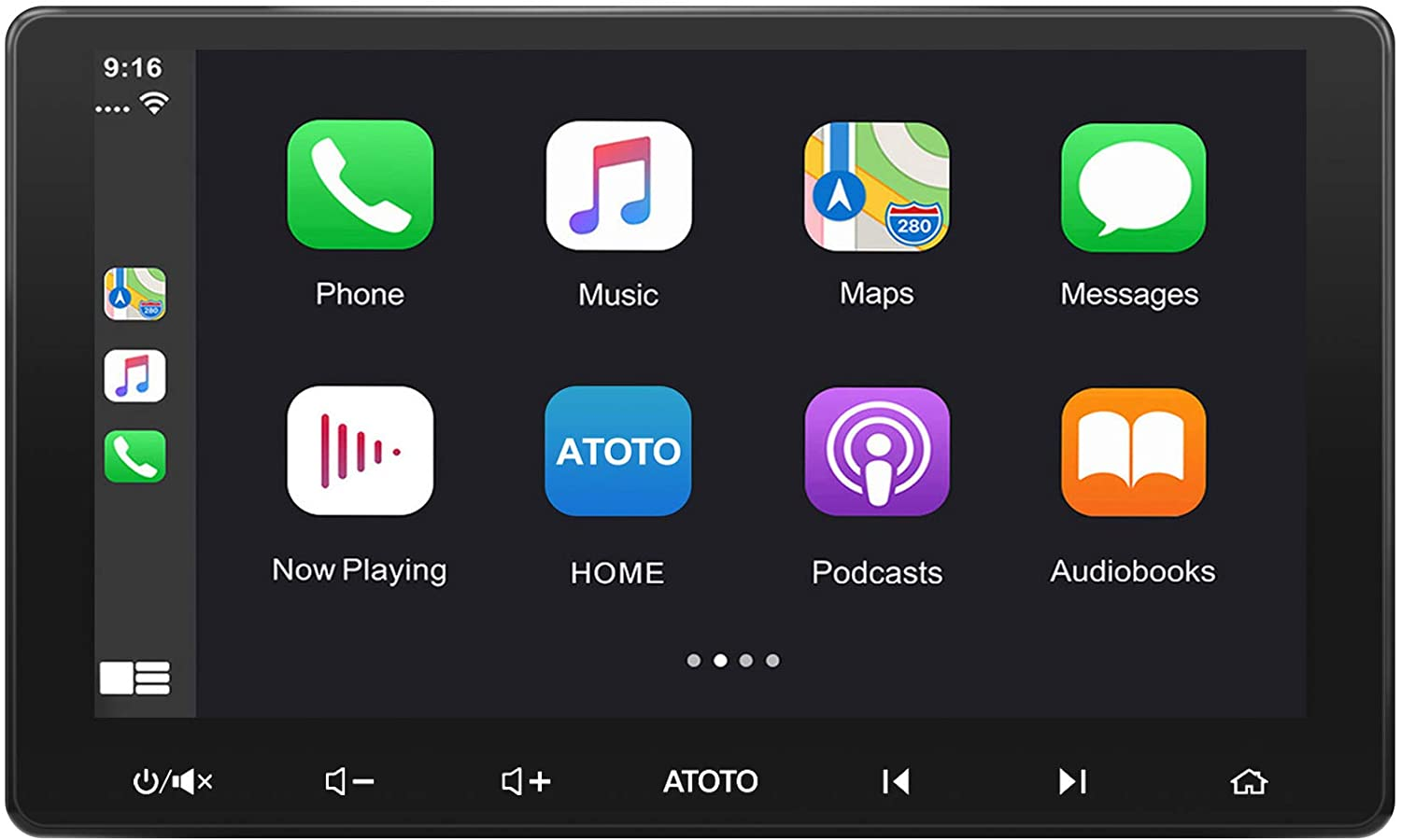 ATOTO F7 SE Car in-Dash Navigation - Android Auto & CarPlay Connection, Bluetooth Handsfree/A2DP, Quick Charge, Phone Mirroring (AutoLink), HD Rearview Input, USB/SD(Up to 2TB) (F7G211SE 10in IAH10D)