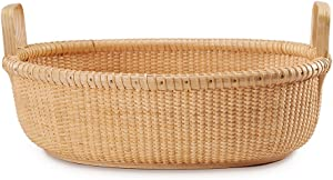 Teng Tian Woven Rattan Basket Storage Sewing Baskets Wicker Food Storage containers Organizer