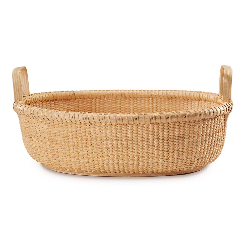 Tengtian Brand, Nantucket Basket, Fruit Basket,fruit Plates, Storage Basket, Desktop Organizer, Woven Rattan, Chinese Traditional Handicrafts, Casual Style, Natural Environmental Protection