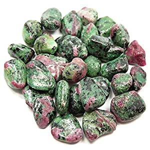 """Tumbled Ruby Zoisite (5/8"""" - 1"""") - 1pc."""