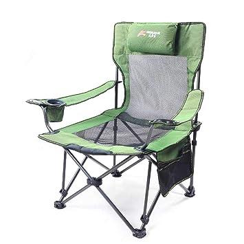 Silla de Camping Plegable al Aire Libre Sillones reclinables de Lona con portavasos y Bolsa de Transporte: Amazon.es: Deportes y aire libre