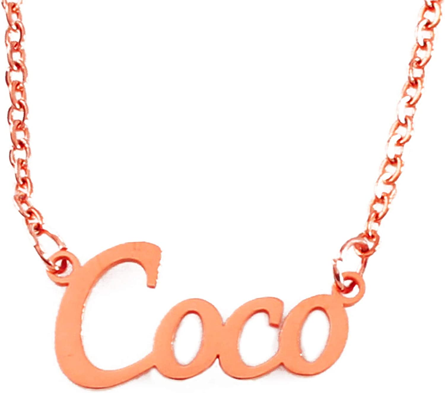 Zacria Cleo Name Necklace 18ct Rose Gold Plated