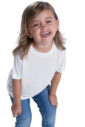 dbc0df6dd Amazon.com: Sublivie Toddler 100% Polyester Crew Neck Short Sleeve Sublimation  Tee: Clothing